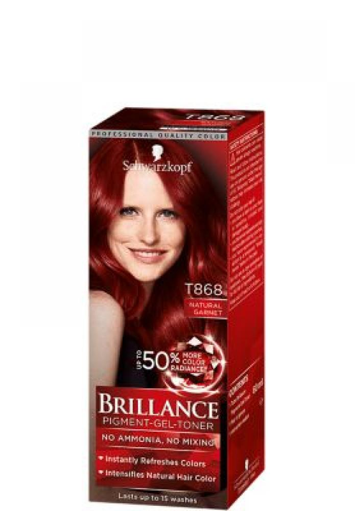 Schwarzkopf Brillance Pigment Gel Toner Number T868 Natural Garnet 60ml